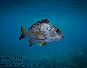 Bream Fish Lowpoly 3D Gaming model low-poly