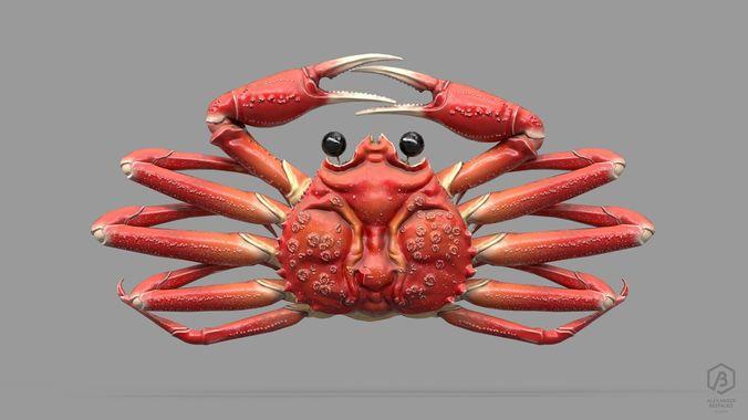 game ready japanese signs set crab signboard 3d model max obj mtl fbx ma mb ztl 1