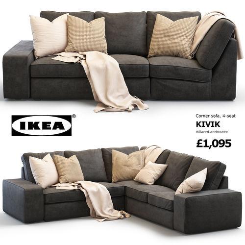 ikea kivik corner sofa 3d model cgtrader rh cgtrader com IKEA Kivik Sofa with Chaise IKEA Kivik Sofa Bed Review