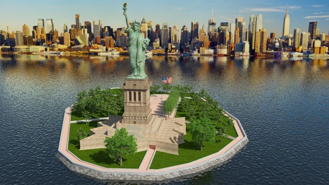 Liberty Statue Of Liberty Island 3d Cgtrader