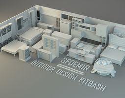 3D model SFDEMIR Interior Kitbash Set stand