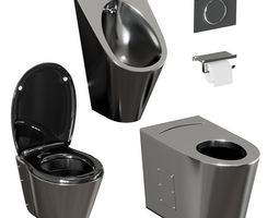 3D model A set of sanitary ware and accessories for 1