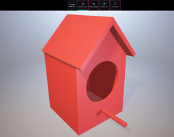 3D printable model finch Nest Box