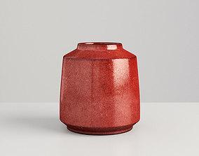 3D Vase Red Iron