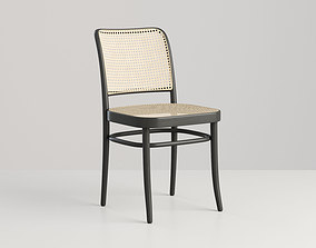Chair Rattan Black 3D model