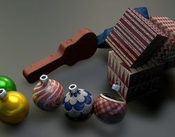 3D model Gift boxes and Christmas balls