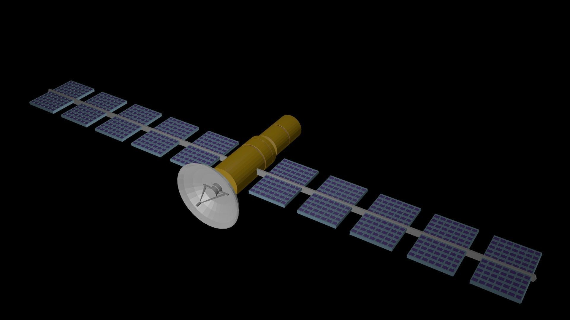 Low poly satellite 4