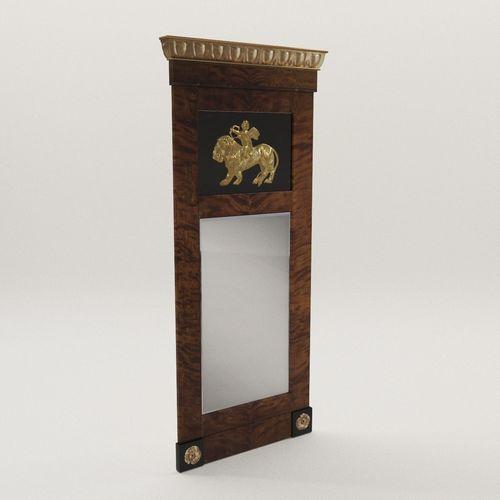 biedermeier mirror - berlin 1810 3d model max obj mtl fbx pdf 1