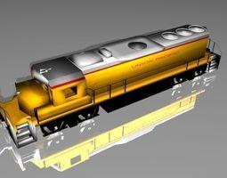 Union Pacific Desil Train Set 3D asset