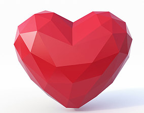Heart Symbol Low Poly 3D model