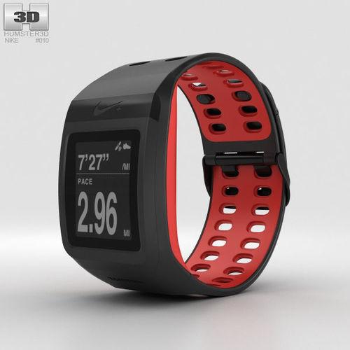 e8c797ec4785 nike sportwatch gps black red 3d model max obj mtl 3ds fbx c4d lwo lw lws
