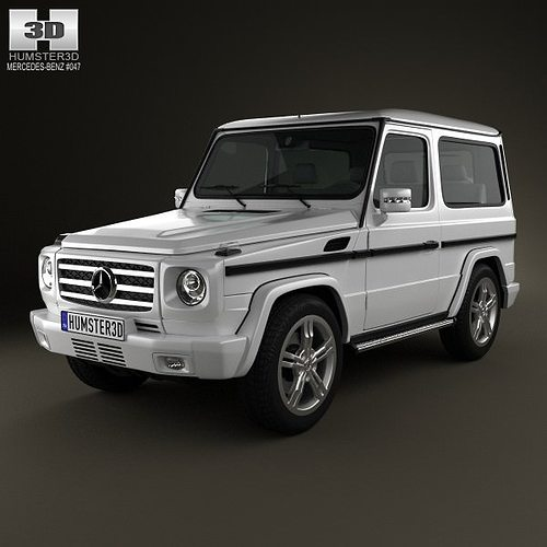 mercedes-benz g-class 3-door 2011 3d model max obj 3ds fbx c4d lwo lw lws 1