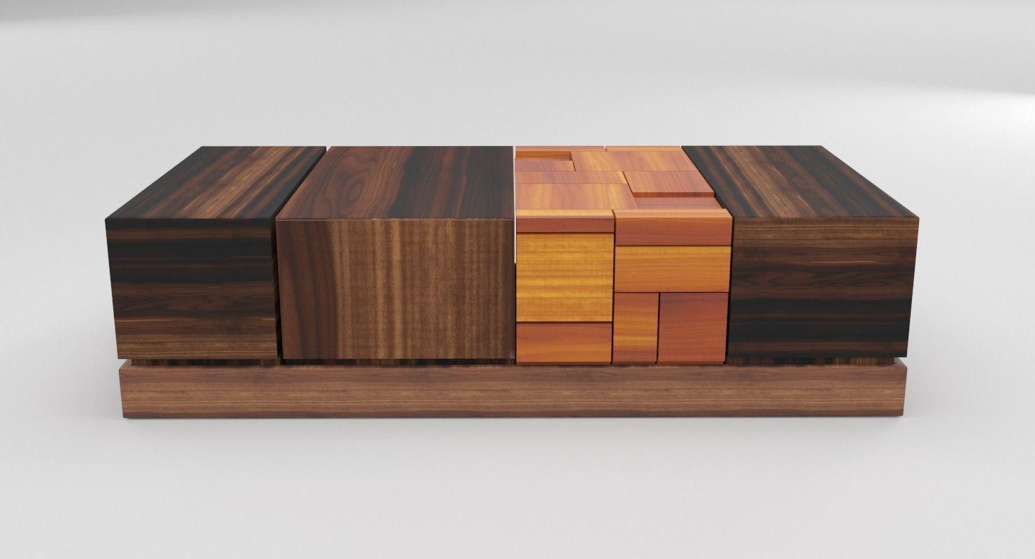 Walnut Coffee Table Modern Model