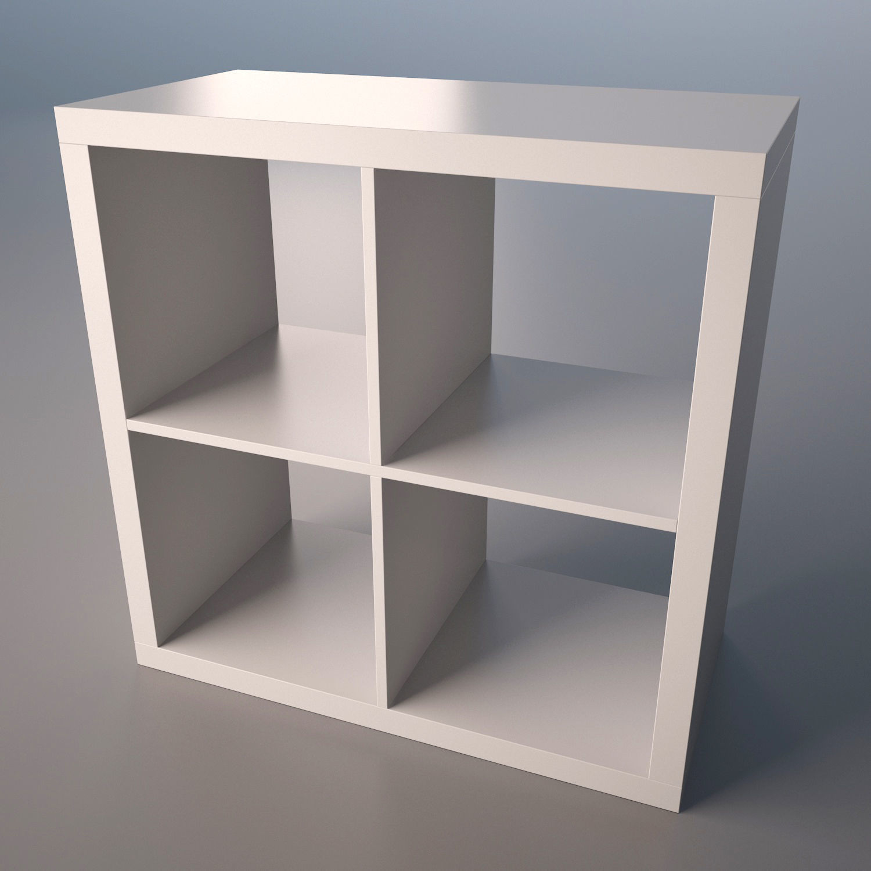 Ikea Kallax shelf   3D model