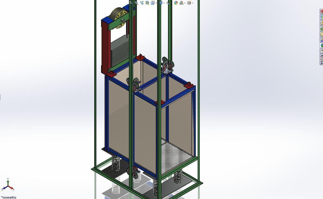 Custom Material Elevator Design Free 3d Model