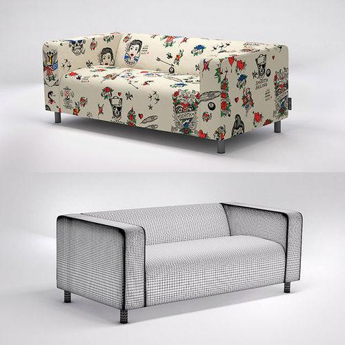 Ikea Klippan Sofa With Artefly Covers 3d Model Max C4d 1 ...