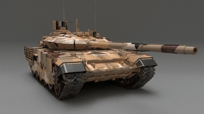 mbt t 90 ms 3d model cgtrader