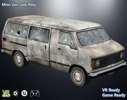 Mini Van 3D asset