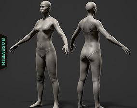 3D Average Female Body Basemesh