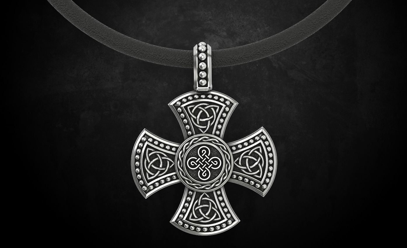 Cross with Celtic designs 326