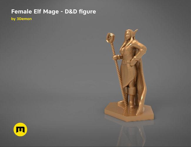 elf mage female character    game figures 3d model obj mtl stl 1