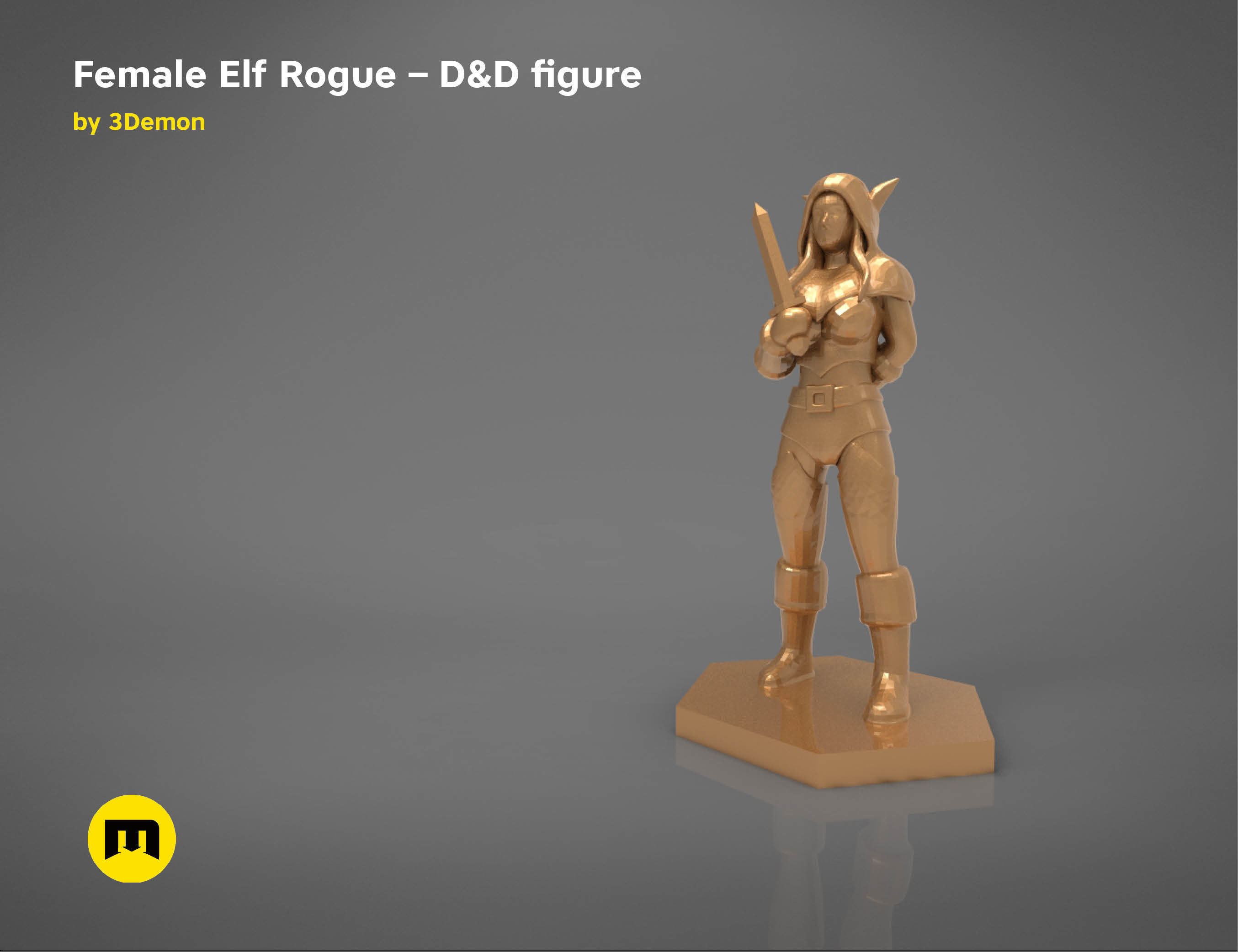ELF ROGUE FEMALE CHARACTER    GAME FIGURES