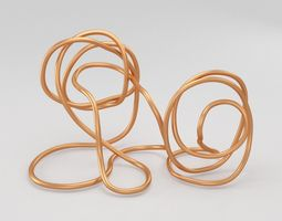 3D asset Copper Wire Sculpture