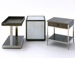 side-table 3D model Bernhardt Clarendon End Tables