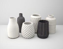 3D Deco Vase Set