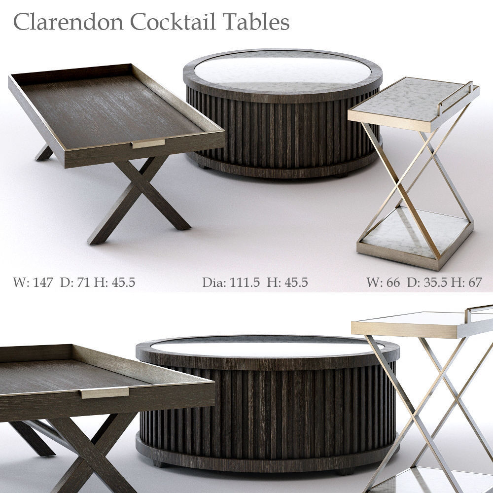 Bernhardt Clarendon Cocktail Tables 3d Model Max Obj 3ds Fbx Mat 1 ...
