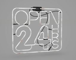 3D asset Game Ready Japanese Signs Set Sign Neon 24H