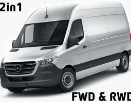3D model Mercedes Sprinter 2018 high roof
