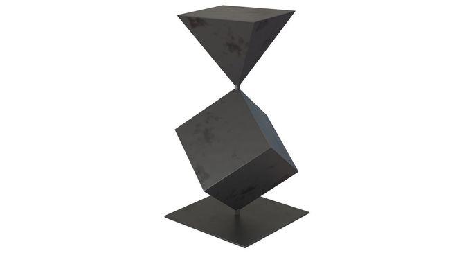 west elm metal cubes sculpture 3d model max fbx 1