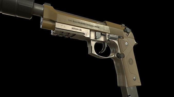 Beretta M9A3 with muffler