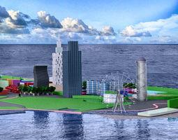 3D model Batumi lowpoly