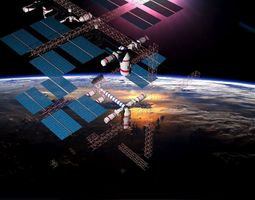 3D model Space station 1