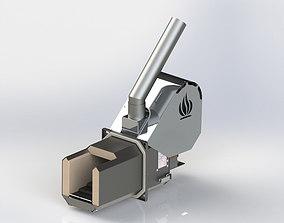 PELLET BURNER 3D model machine