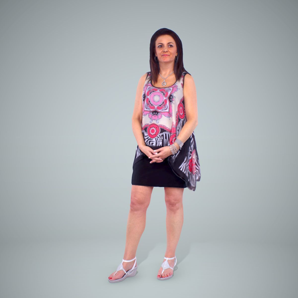 Woman with Colourful Bouse CWom0218-HD2-O01P01-S