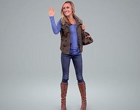 3D Woman Standing Waving CWom0206-HD2-O01P01-S
