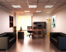 FULL OFFICE MODERN 3D model