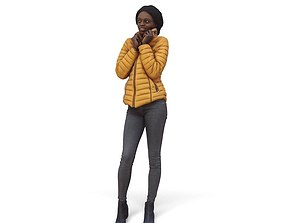 3D model Woman with Yellow Jacket CWom0345-HD2-O01P01-S