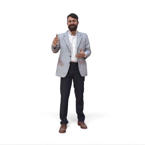 talking man with suit cman0338-hd2-o01p02-s 3d model max obj mtl c4d lwo lw lws 1