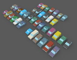 3D asset LowPoly Vehicles Pack