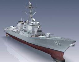 3D model Arleigh Burke Class Destroyer Flight IIA