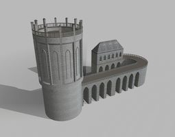 3D asset Medieval Building And Tower