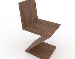 Gerrit Ritveld zig zag chair 3D model