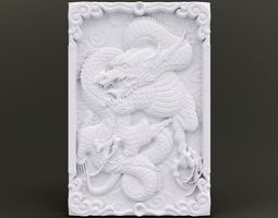 3D printable model Dragon Wall Ornament