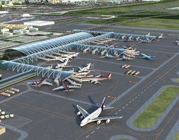 3D model International Airport 001