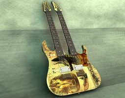 Ibanez Double Neck guitar 3D model