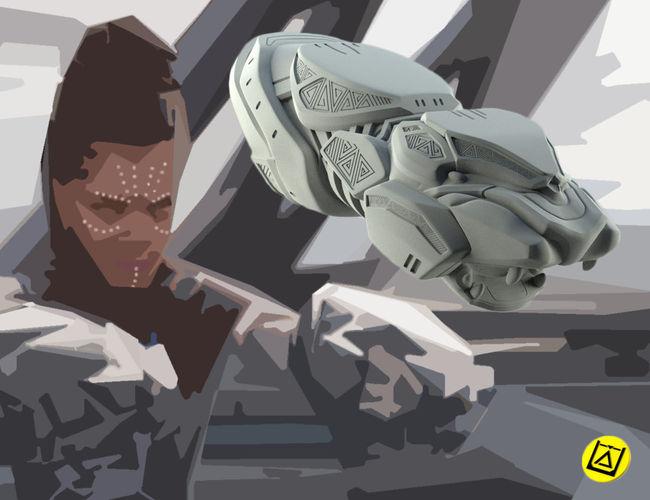 shuri    vibranium blasters from black panther 3d model obj stl 1